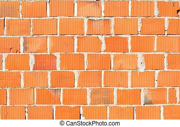 Detail of new brick wall
