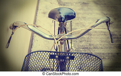 Detail of old bicycle vintage style