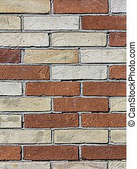 old brick wall in red and orange