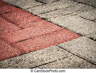 old concrete pavement
