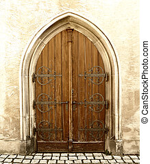 detail of old door