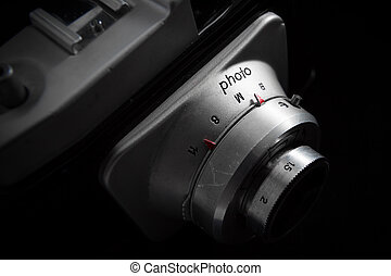 detail of old retro camera