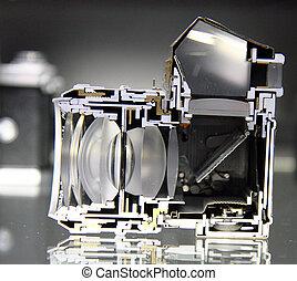 detail of old slr camera