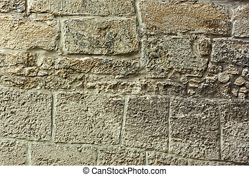 Detail of old stone wall