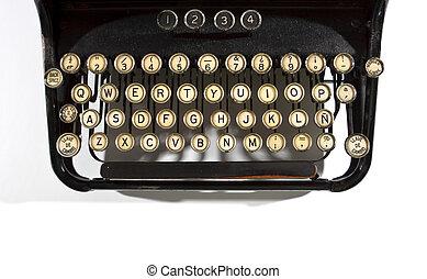 Detail of Old Typewriter