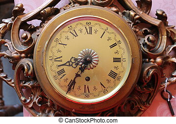 detail of old wall clock