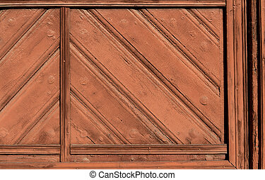 detail of old wooden doors