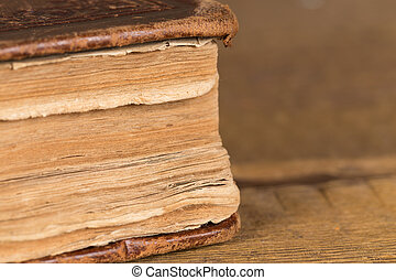 Detail of pages of an old book
