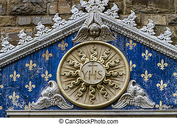 Detail of Palazzo Vecchio in Florence - Detail of the...