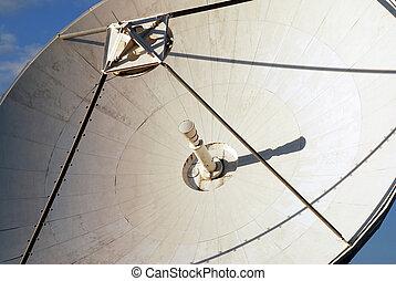 Detail of parabola - Detail of communication satelite