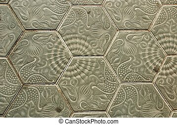 detail of pavement textur - By Gaudi, barcelona