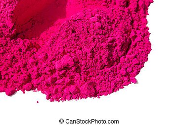 Detail of pink color for holi, sale in india on the occasion...