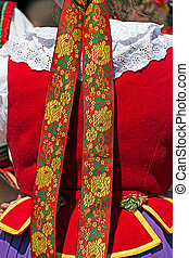 Detail of Polish female folk costume 1