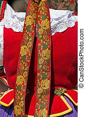 Detail of Polish female folk costume 1