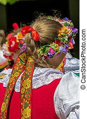 Detail of Polish female folk costume 3
