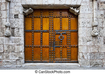 Gothic Church - Detail of Portal of the Gothic Church in...