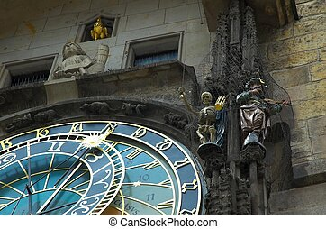Astronomical Clock - Detail of Prague Astronomical Clock ...