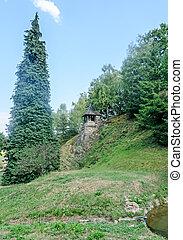 Detail of Prislop Monastery from Hunedoara County, Romania and Arsenie Boca grave
