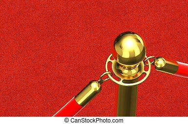 detail of red carpet