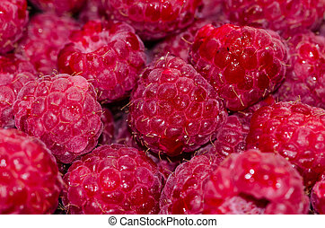 rasberry - detail of red rasberry image
