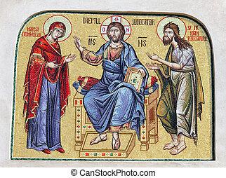detail of religious mosaic