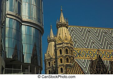 St Stephens Cathedra - Detail of roof of St Stephens...