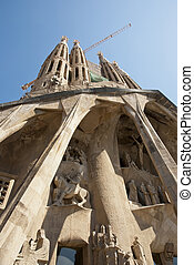 Detail of sagrada Familia Church, Barcelona