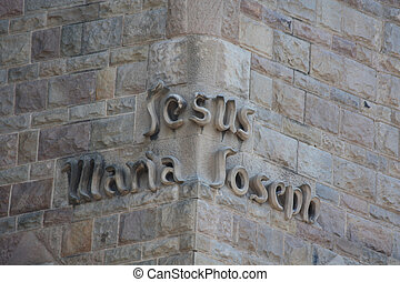 Detail of Sagrada Familia, Jesus, Maria Joseph