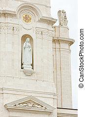 detail of Sanctuary of Our Lady of Fatima, Fatima, ...