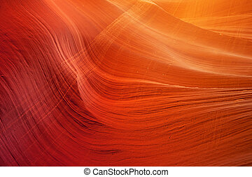 detail of sandstone wall in Antelope Slot Canyon