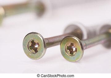 detail of screws