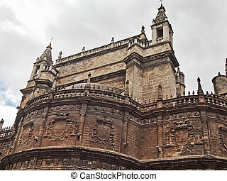 Detail of Seville Cathedral, Andalusia, Spain