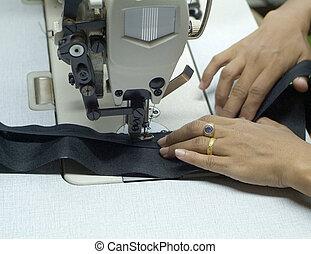Detail of sewing machine