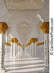 Detail of Sheikh Zayed Mosque, Abu Dhabi, United Arab Emirates