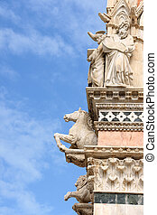 Detail of Siena Cathedral in Italy