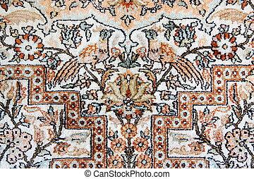 Detail of Silk Isfahan Carpet