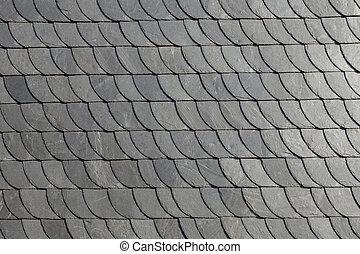 detail of slate shingle roof