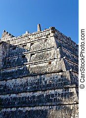 Detail of Small Mayan Pyramid at Chichen Itza
