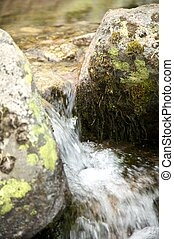 detail of small waterfall