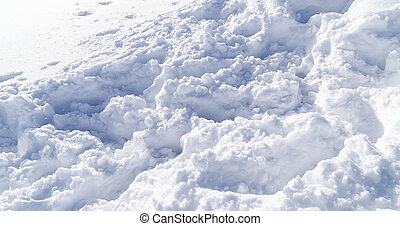 Detail of snow on the ground