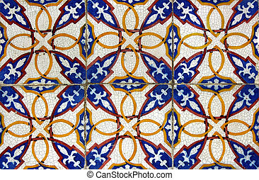 Detail of some typical portuguese tiles