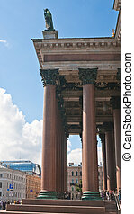 Detail of St. Isaac's Cathedral. St. Petersburg