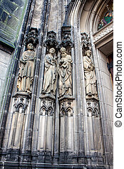 Detail of st lamberts church in Muenster, Germany