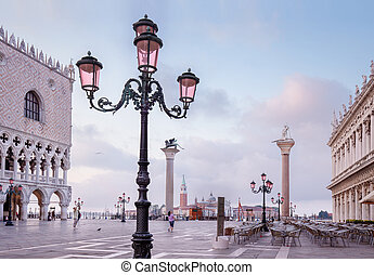detail of St. Mark's Square in Venice Italy