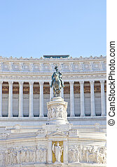 Detail of statue at Piazza Venezia, Rome, Italy