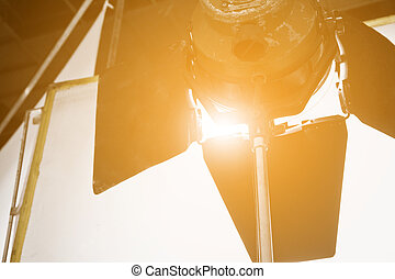 Studio lighting equipment - detail of Studio lighting ...