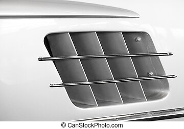 the air intake of a sports car
