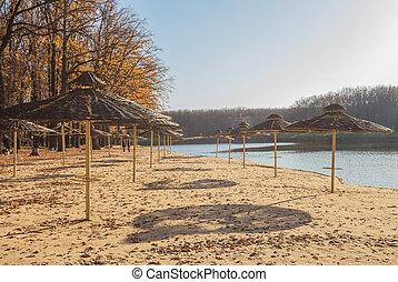 Detail of the beach at Lake