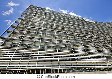 Detail of the Berlaymont building in Brussels, the European...