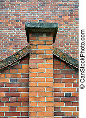 detail of the brick facade